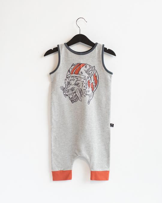 Rags Tank Capri Rag in Heather Grey Flying Wolf