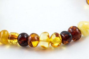 Healing Amber Baby Anklet/Bracelet - Polished Multi Color
