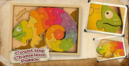 Begin Again Toys Counting Cameleon Puzzle