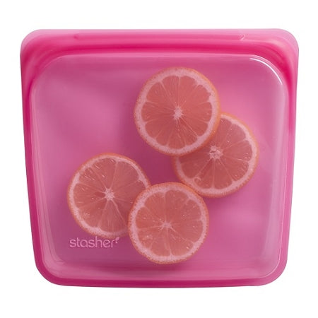 Stasher - Reusable Silicone Sandwich Bag - Raspberry
