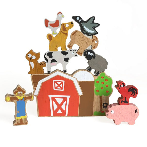 Begin Again Toys Balance Barn - Family Game and Playset