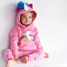 Doodle Pants - Unicorn Hoodie with Horn