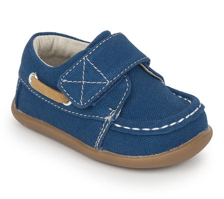 See Kai Run - Arthur First Walker Canvas Blue