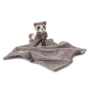 JellyCat Bashful Raccoon Soother Blanket