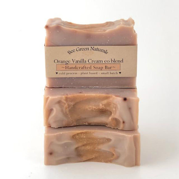 BeeGreen Naturals Orange Vanilla Cream EO Soap Bar