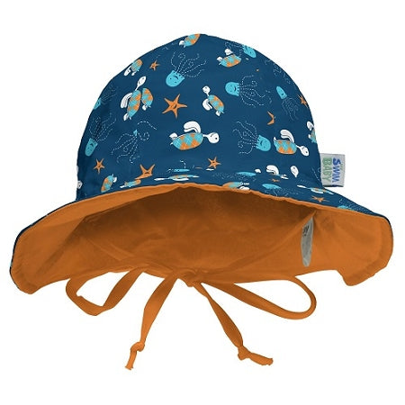 My Swim Baby Sun Hat - Navy Sea Friends