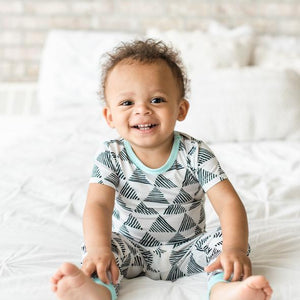 Little Sleepies Triangles Two-Piece Bamboo Viscose Pajama Set