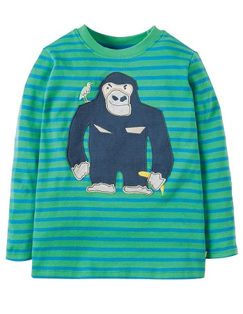 Frugi - Discovery Applique Top Jungle Breton Gorilla (SS18)