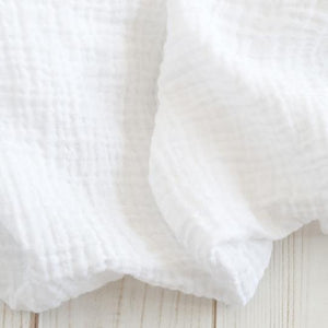 The Sugar House Classic Muslin Swaddle in White