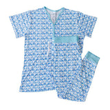 Little Sleepies Blue Rainbow Two-Piece Women's Bamboo Pajama Set