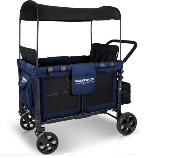 WonderFold Wagon W4 Quad Baby Stroller in Navy