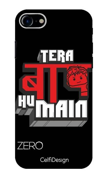 Slim Case for iPhone 8 Tera Baap Hu Main