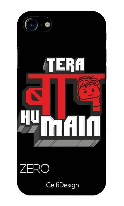 Slim Case for iPhone 7 Tera Baap Hu Main