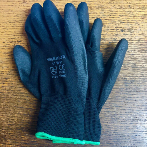 Horse Stable Gloves Riding | Yard Work Polyester Grip Polyurethane palm coating | All Sizes - Farriers Equipment