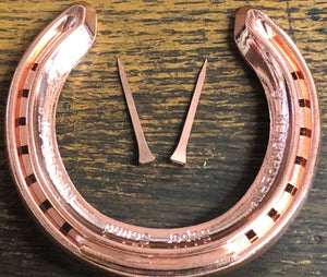 Real Horseshoe Copper + Horse shoe nails to fix to a door | Wedding, Craft, Game, Games - Farriers Equipment