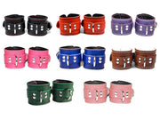Assorted BDSM Cuff Colours - Lining and Stitching Options - BDSM Kink Cuff Bondage