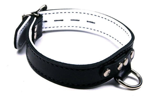 Lined Horizontal Dee Ring Collar