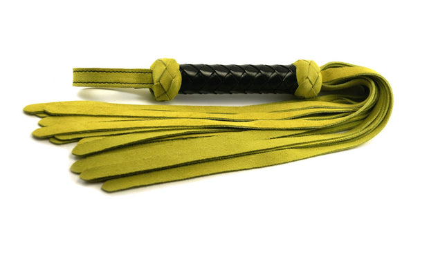 Classic Flogger - Lime Green Suede