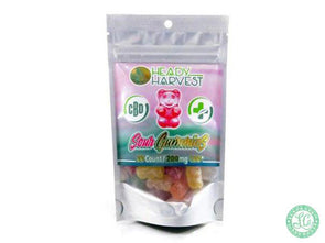 Heady Harvest CBD Gummies sour with 200mg of CBD per pack