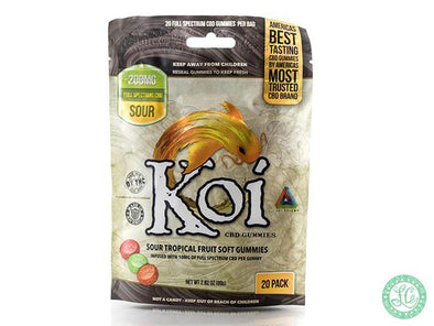 KOI Sour Tropical Fruit Soft CBD Gummies