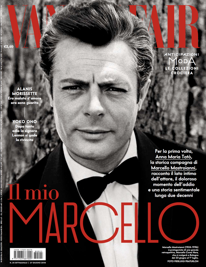 Marcello Mastroianni by Bert Stern in Vanity Fair Italia