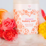Bubbly Wash – BEB Organic skincare products – Luxury, health-filled skincare for preemies – premature baby - BEB Organic Bubbly Wash - BEB Organic Silky Cream - BEB Organic Healing Gel - BEB Organic Nourishing Oil - BEB Organic Diaper Balm – Kim Walls, Preemie Skincare Expert