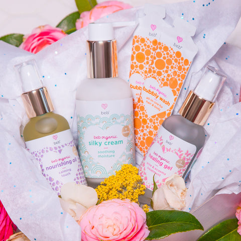 BEB Organic – BEB Organic skincare products – Luxury, health-filled skincare for preemies – premature baby - BEB Organic Bubbly Wash - BEB Organic Silky Cream - BEB Organic Healing Gel - BEB Organic Nourishing Oil - BEB Organic Diaper Balm – Kim Walls, Preemie Skincare Expert