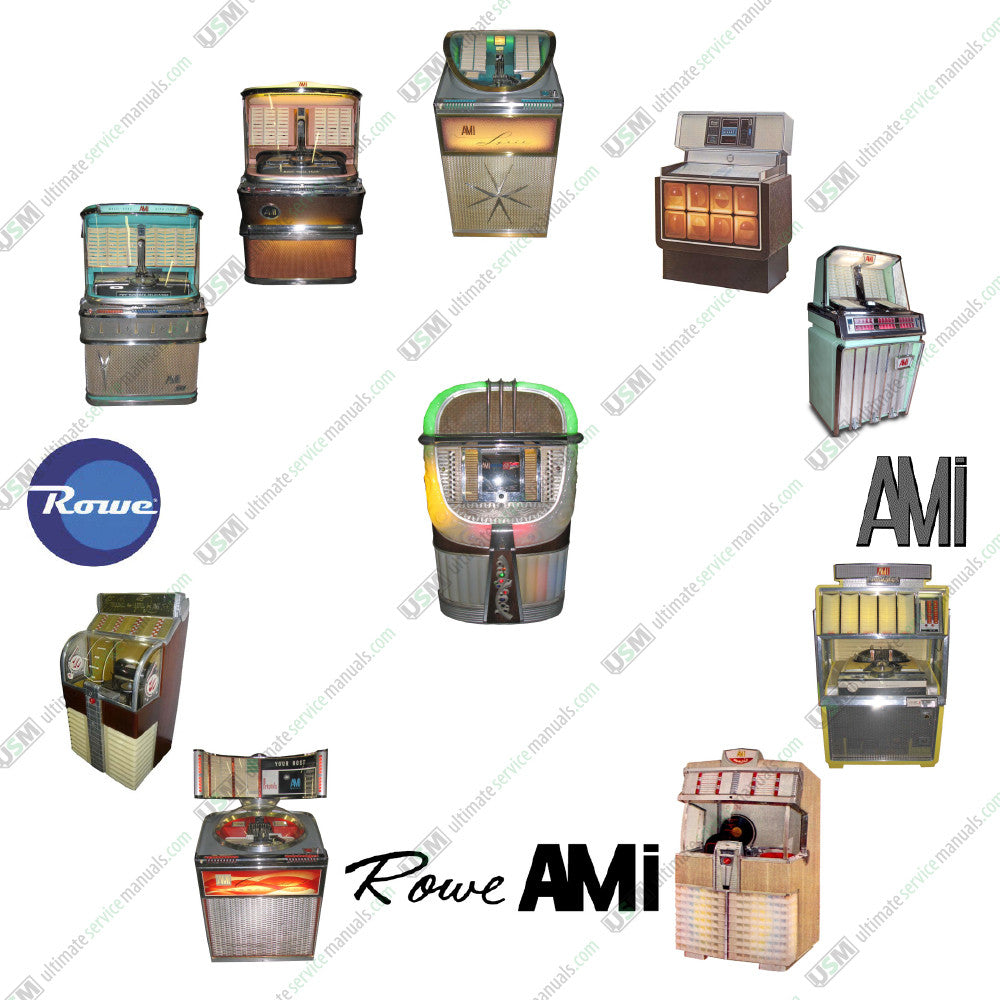 AMI - Rowe Jukebox Ultimate repair service manuals on DVD