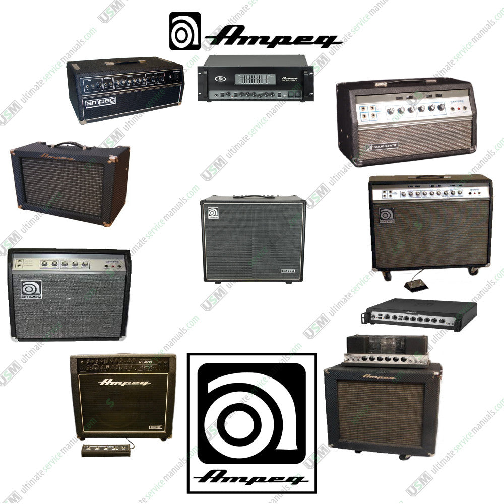 Ampeg Ultimate Repair  Service Schematics Manuals  U0026 User