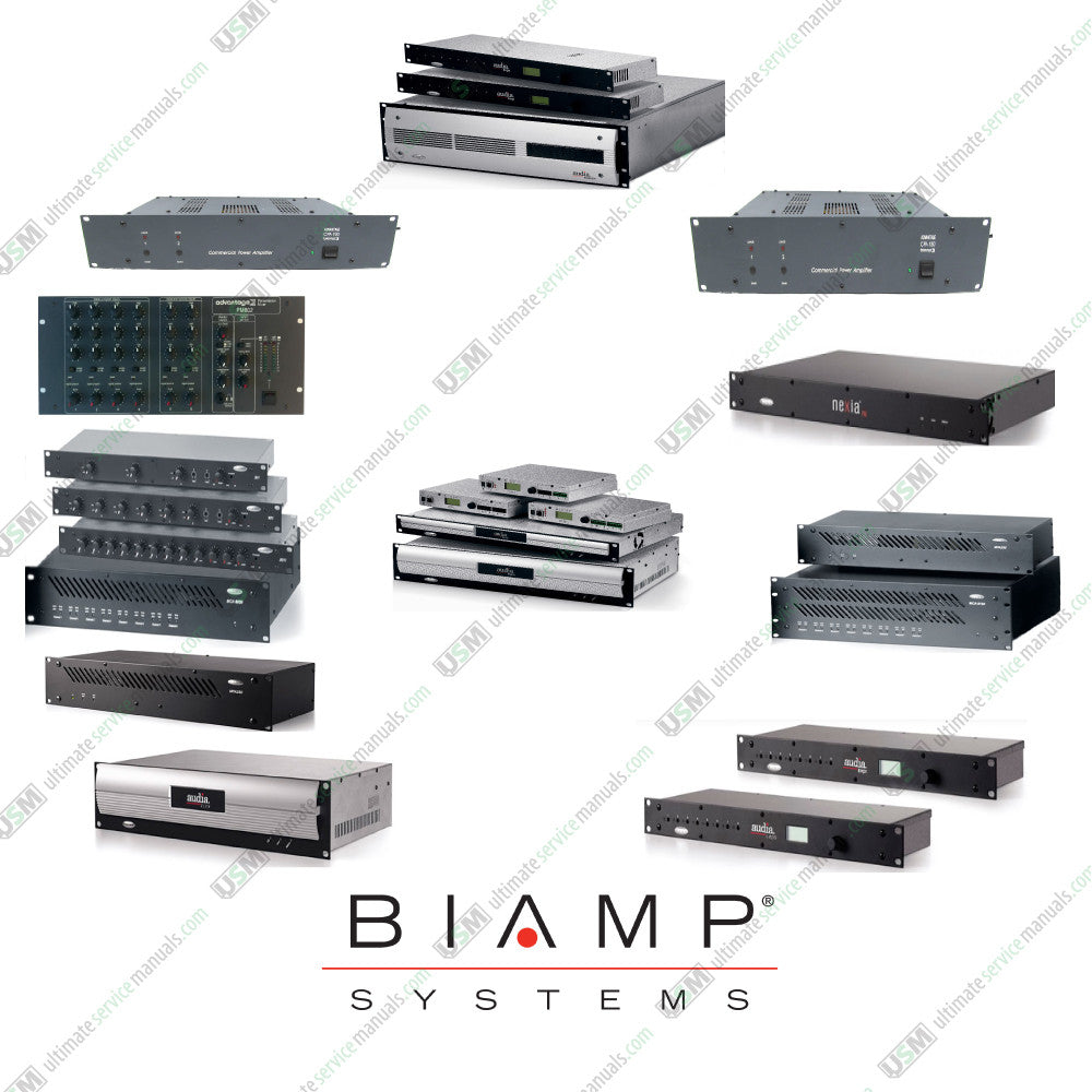 BIAMP Ultimate Owner manuals, Installation manuals, service
