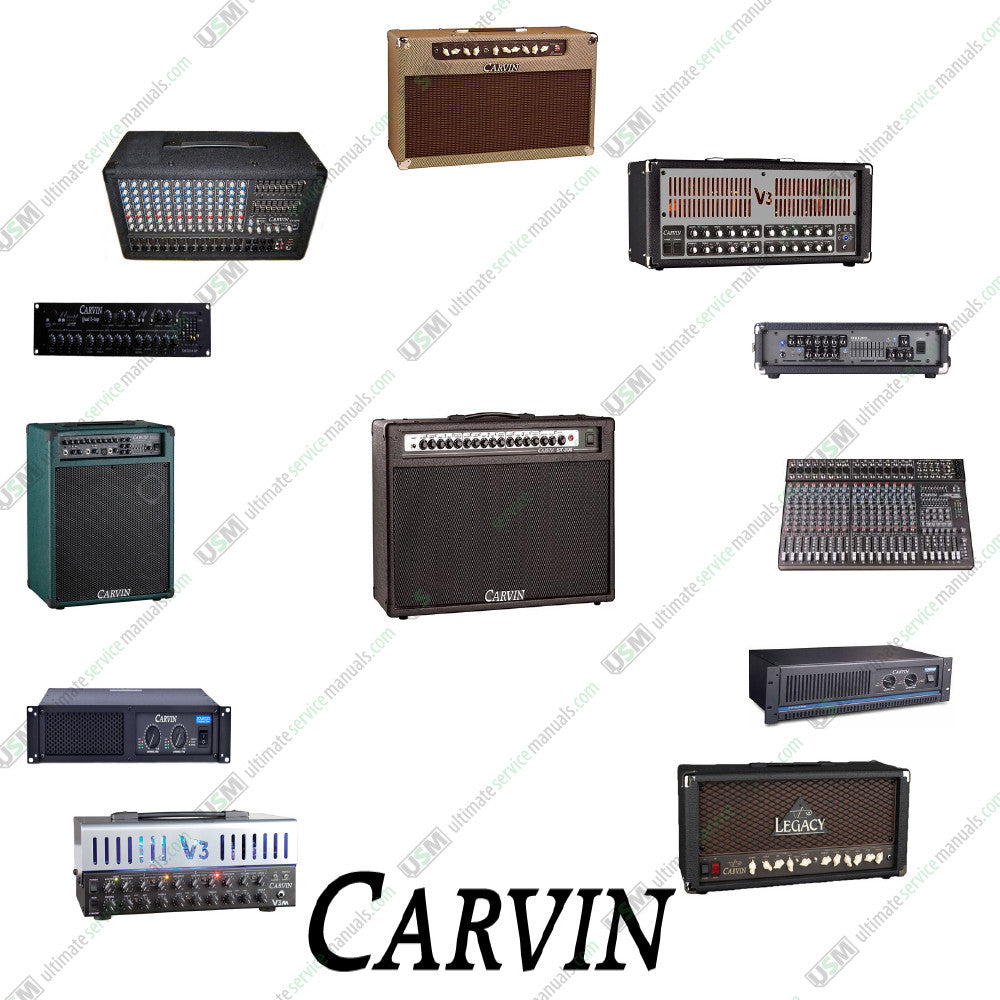 CARVIN Ultimate Repair, Service Schematics (450 PDF on DVD