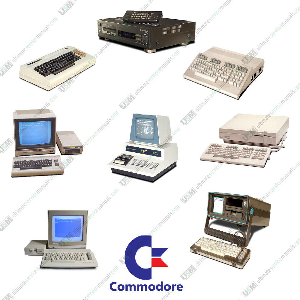 Commodore C2n 1530 1531 Service Manual Troubleshooting: Commodore Computers Repair Service Manuals On DVD