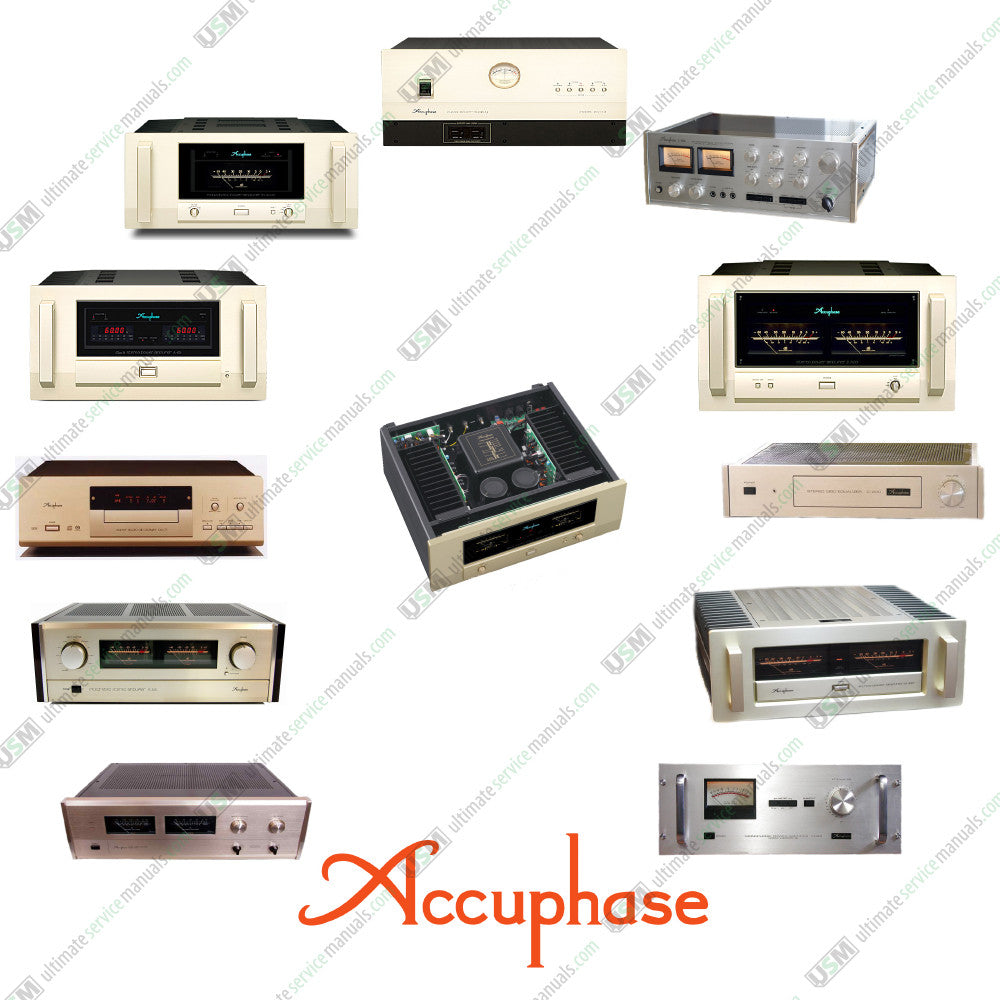 Accuphase Ultimate Schematics Repair Service & Owner manuals on DVD