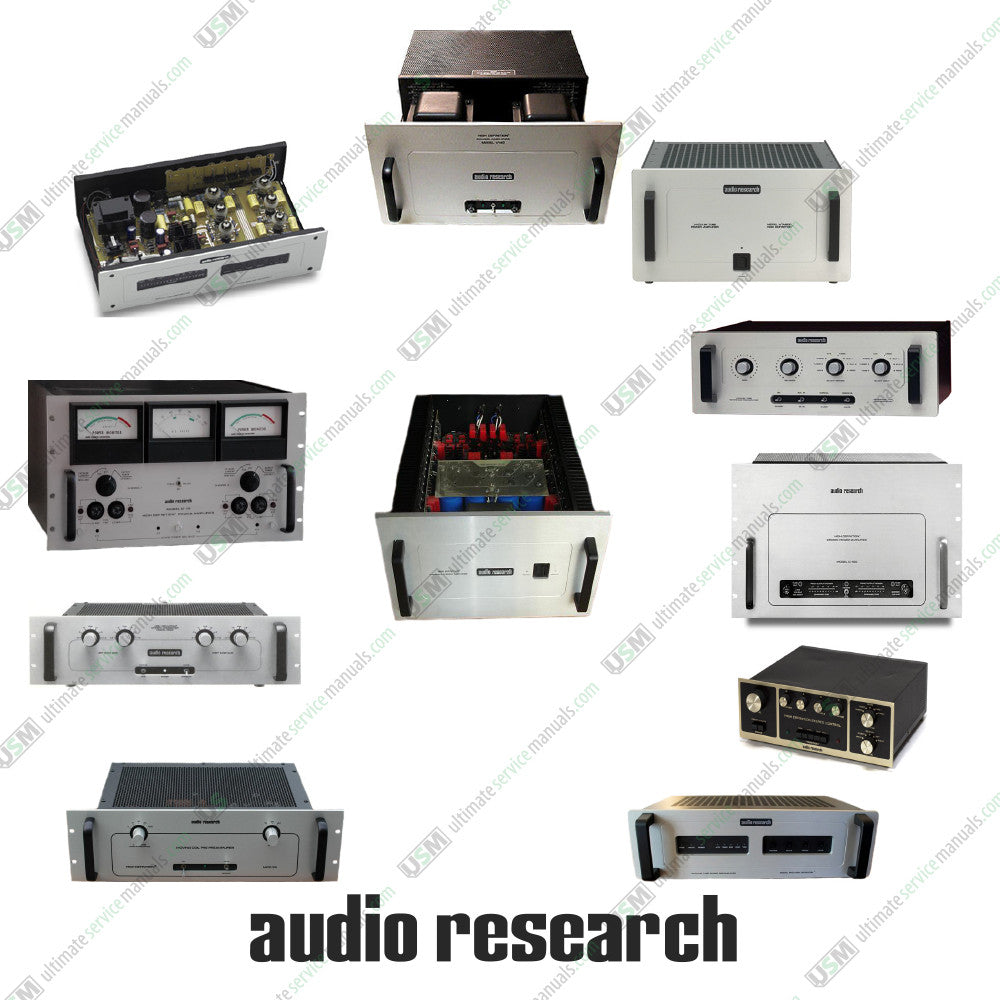 Audio Research Ultimate Repair, Service Schematics & Operation