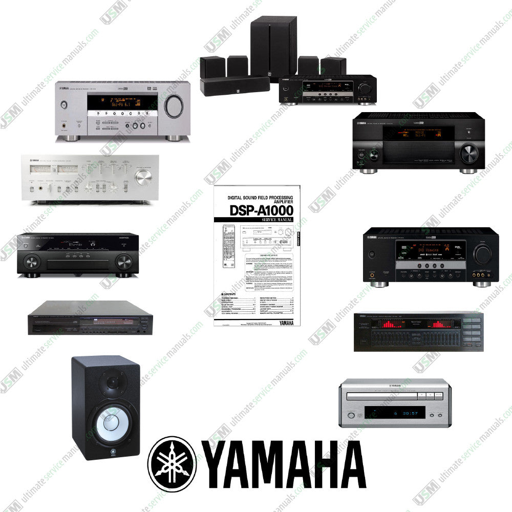 Yamaha Ultimate Customer Audio Video Repair Service Manuals On 3 Dvd M7 Wiring 1050