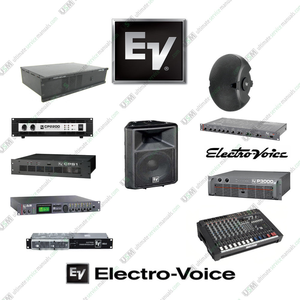 Electro-Voice repair service manuals service data manuals schematics