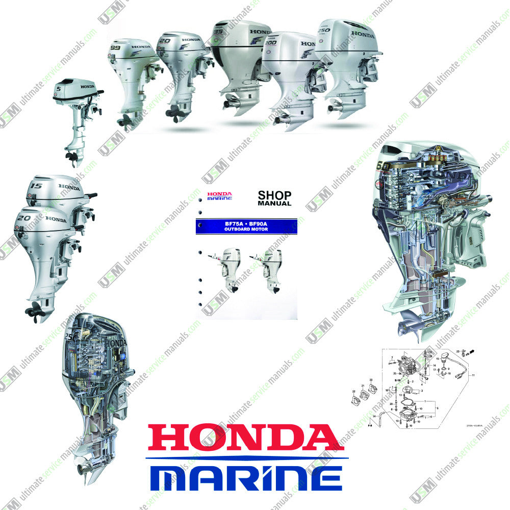 Honda Marine Outboard Workshop Service Repair Manuals