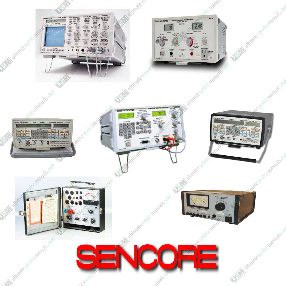 SENCORE repair, service, owner manuals, schematics & Tech Tips