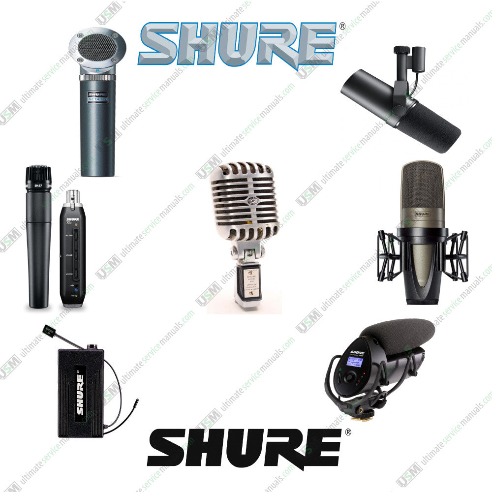 SHURE Owners, data sheets, service manuals & schematics on DVD