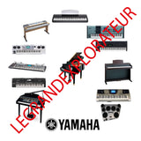 Yamaha Ultimate Keyboards Piano repair service manuals   500 manuals on  DVD