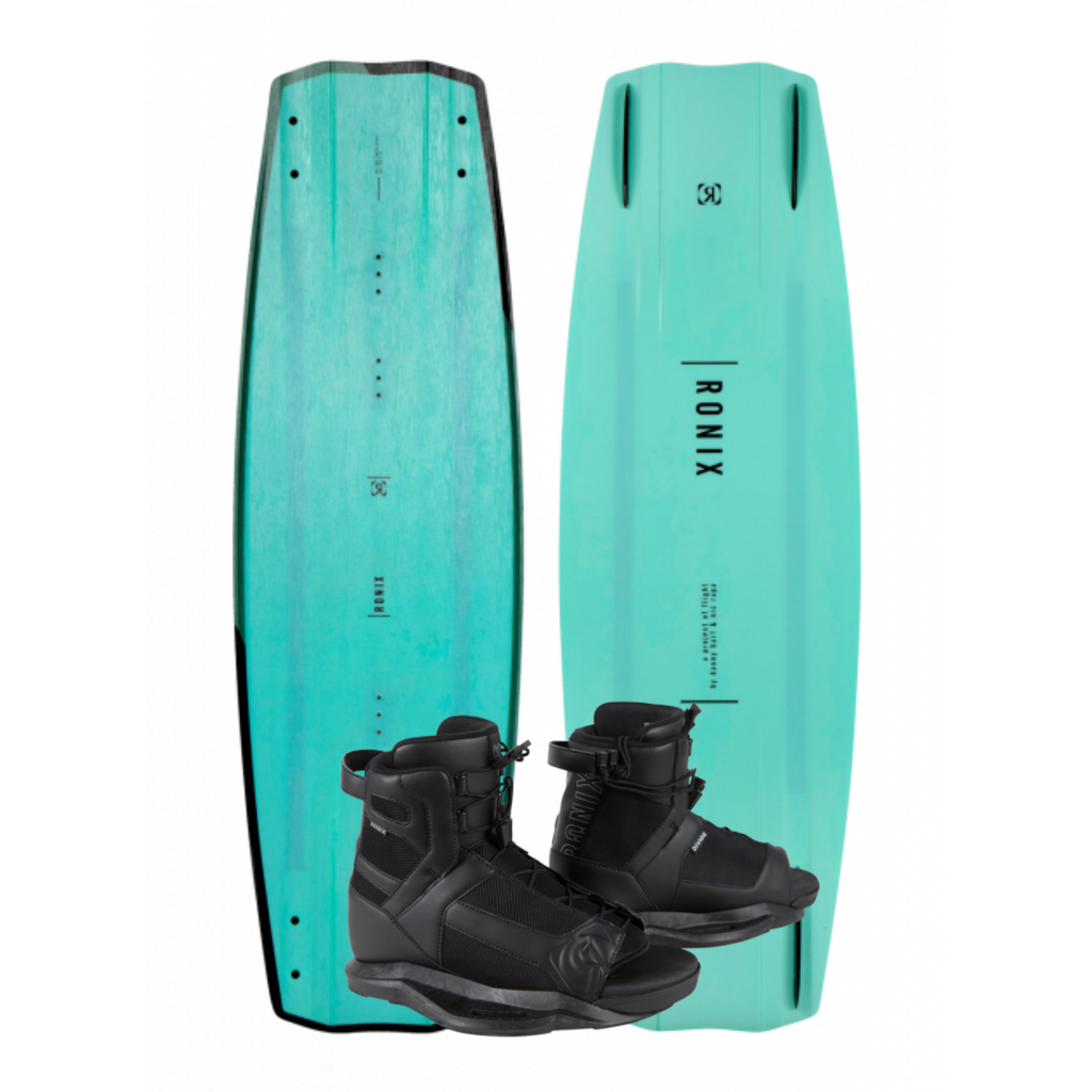 2021 Ronix One Blackout Wakeboard With Divide Bindings - Wakesports Unlimited