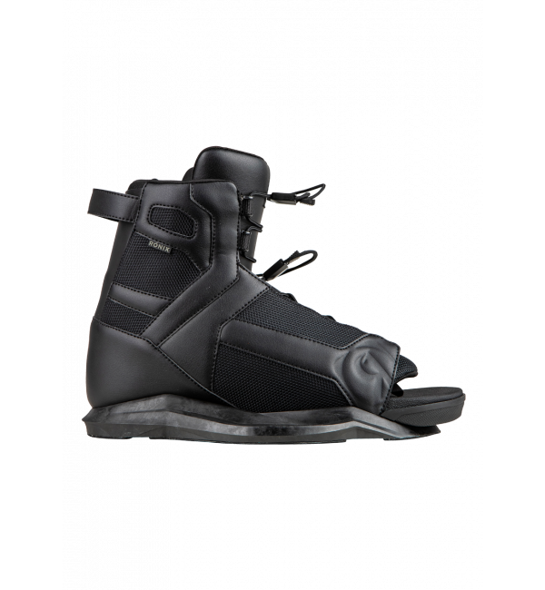 2021 Ronix Kid's Divide Wakeboard Boots - Black - Wakesports Unlimited