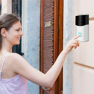 WiFi Smart Video Intercom Doorbell Camera Two-Way Audio Night Vision PIR Motion Detection Alarm Wireless Home security Doorbell