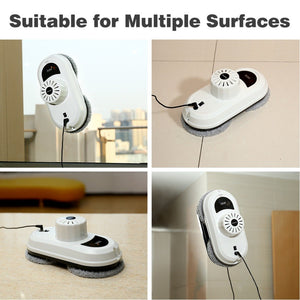 Remote control magnetic window cleaner robot for inside and outdoor high tall window, intelligent window cleaning robot