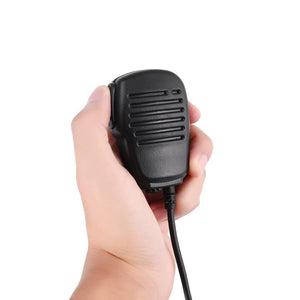 Compact Speaker Mic 2 Pin Shoulder Remote Speaker Reinforced Cable Mic Microphone PTT for Kenwood Wouxun Puxing Baofeng