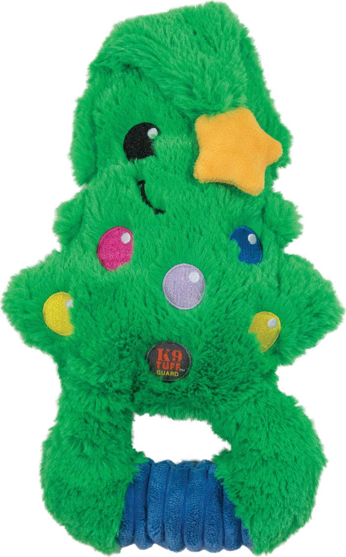 Squeze 'ems Holiday Tree Plush Dog Toy