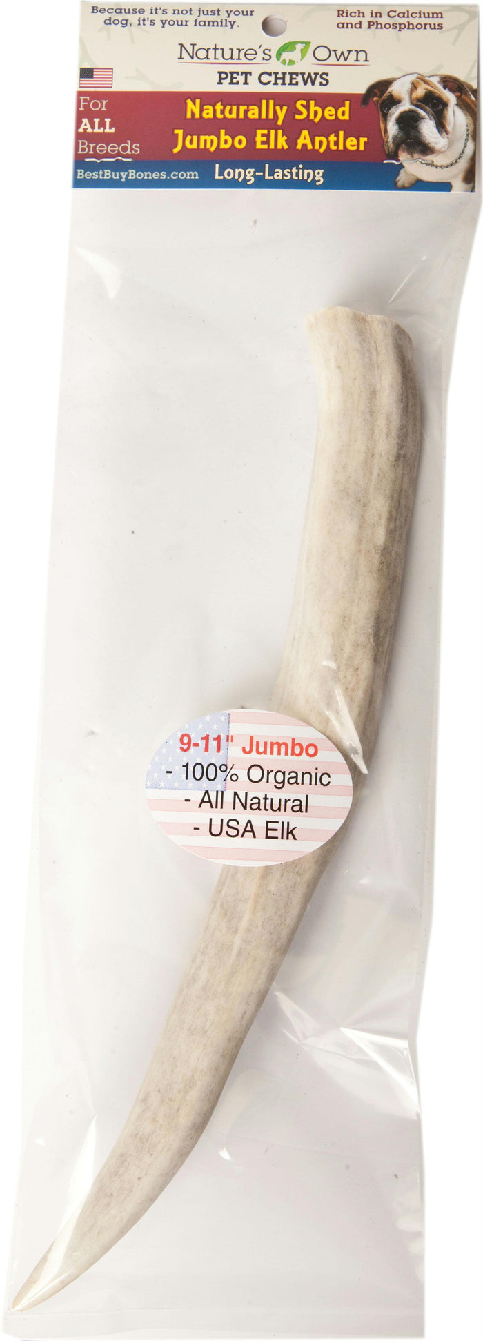 Nature's Own Naturally Shed Antler Dog Chew