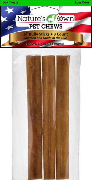 Nature's Own Usa Low Odor Bully Sticks Dog Chew