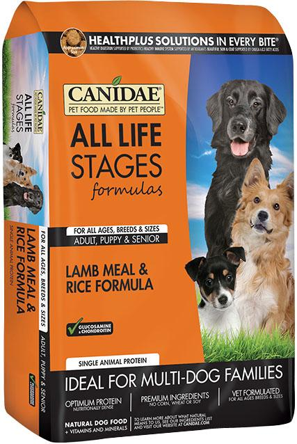 CANIDAE All Life Stages Lamb Meal & Rice Formula Dry Dog Food, 5 lbs.