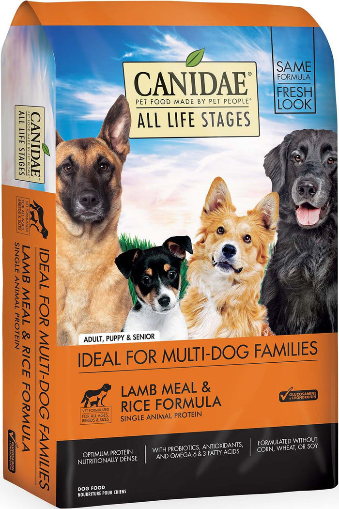 CANIDAE All Life Stages Lamb Meal & Rice Formula Dry Dog Food, 30 lbs.